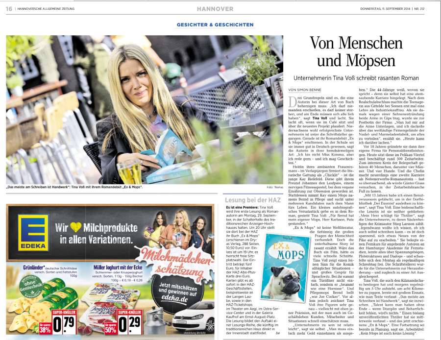 Hannoversche Allgemeine 11.09.2014