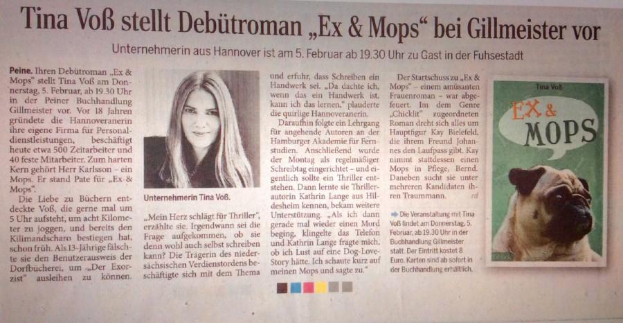 Peiner Allgemeine Zeitung, 24.01.2015